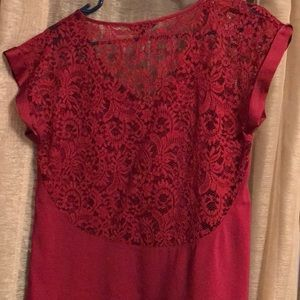 Express Tops - Lace Express Blouse